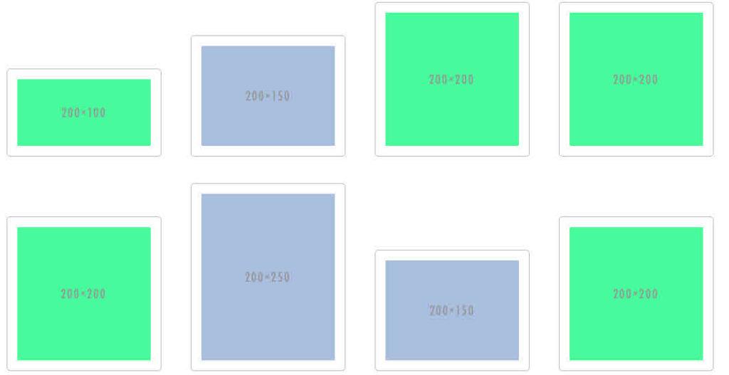 Galerie mit display: inline-block
